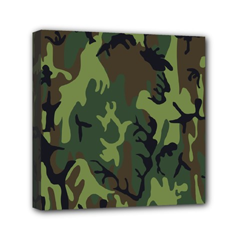 Military Camouflage Pattern Mini Canvas 6  X 6  by BangZart