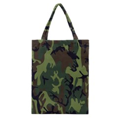 Military Camouflage Pattern Classic Tote Bag by BangZart