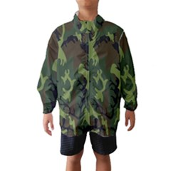 Military Camouflage Pattern Wind Breaker (kids) by BangZart