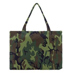 Military Camouflage Pattern Medium Tote Bag by BangZart