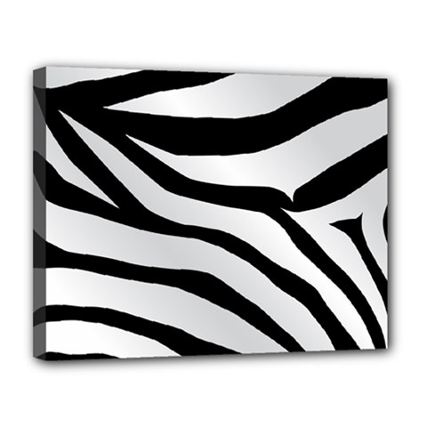 White Tiger Skin Canvas 14  X 11  by BangZart
