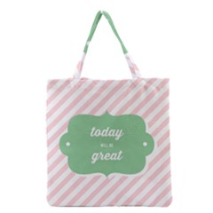 Today Will Be Great Grocery Tote Bag by BangZart