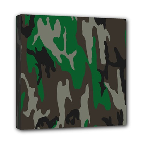 Army Green Camouflage Mini Canvas 8  X 8  by BangZart