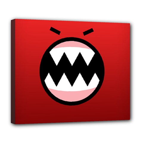 Funny Angry Deluxe Canvas 24  X 20   by BangZart