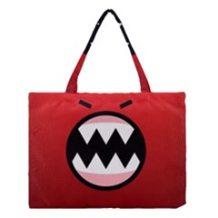 Funny Angry Medium Tote Bag by BangZart