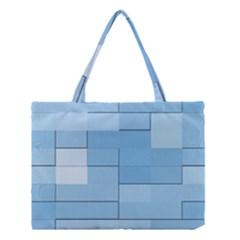 Blue Squares Iphone 5 Wallpaper Medium Tote Bag by BangZart