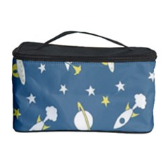 Space Rockets Pattern Cosmetic Storage Case by BangZart