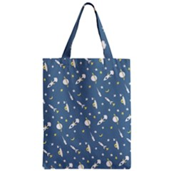 Space Rockets Pattern Zipper Classic Tote Bag by BangZart