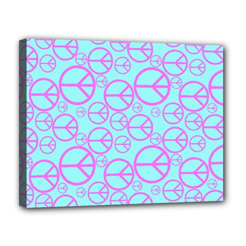 Peace Sign Backgrounds Canvas 14  X 11  by BangZart