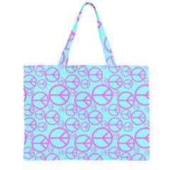 Peace Sign Backgrounds Zipper Large Tote Bag by BangZart
