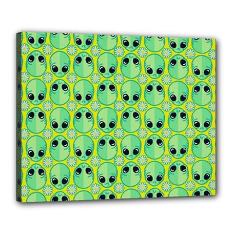 Alien Pattern Canvas 20  X 16  by BangZart