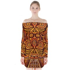 Alien Dj Long Sleeve Off Shoulder Dress by BangZart