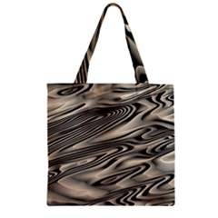 Alien Planet Surface Zipper Grocery Tote Bag by BangZart