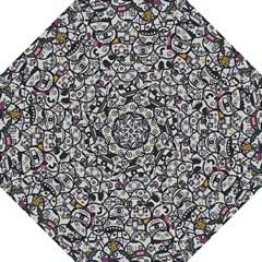 Alien Crowd Pattern Golf Umbrellas by BangZart