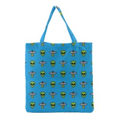 Alien Pattern Grocery Tote Bag by BangZart