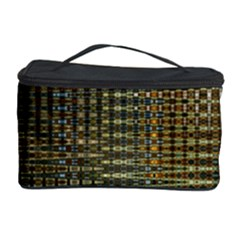 Background Colors Of Green And Gold In A Wave Form Cosmetic Storage Case by BangZart