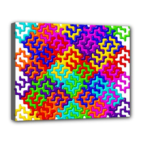 3d Fsm Tessellation Pattern Canvas 14  X 11  by BangZart