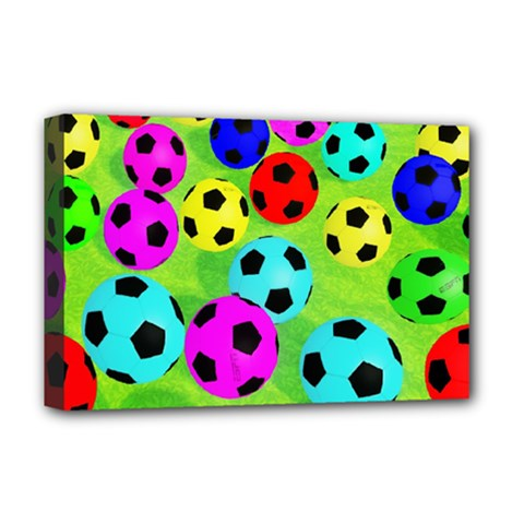 Balls Colors Deluxe Canvas 18  X 12   by BangZart