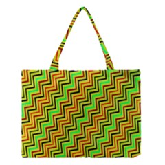Green Red Brown Zig Zag Background Medium Tote Bag by BangZart
