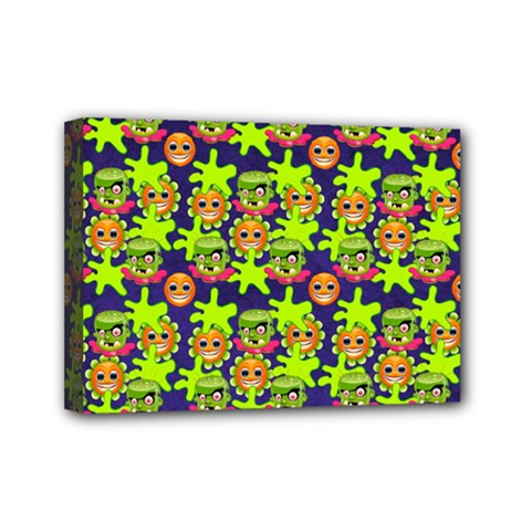 Smiley Monster Mini Canvas 7  X 5  by BangZart