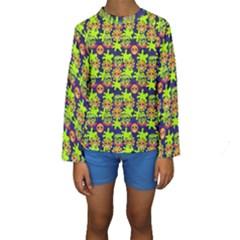 Smiley Monster Kids  Long Sleeve Swimwear by BangZart