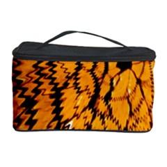 Yellow Chevron Zigzag Pattern Cosmetic Storage Case by BangZart
