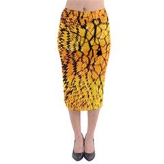 Yellow Chevron Zigzag Pattern Midi Pencil Skirt by BangZart