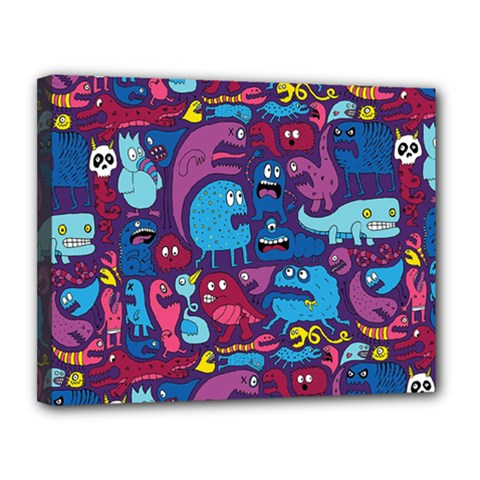 Hipster Pattern Animals And Tokyo Canvas 14  X 11  by BangZart