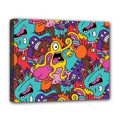 Monster Patterns Deluxe Canvas 20  X 16   by BangZart