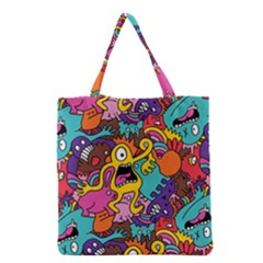 Monster Patterns Grocery Tote Bag by BangZart