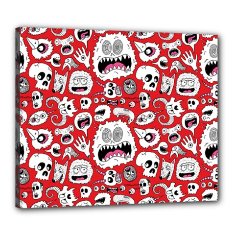 Another Monster Pattern Canvas 24  X 20  by BangZart