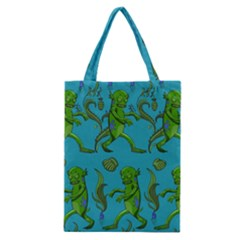 Swamp Monster Pattern Classic Tote Bag by BangZart