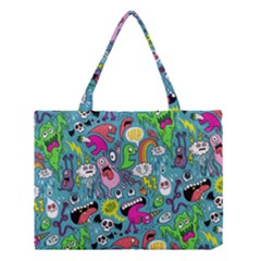 Monster Party Pattern Medium Tote Bag by BangZart