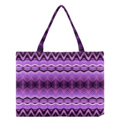 Purple Pink Zig Zag Pattern Medium Tote Bag by BangZart
