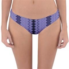 Zig Zag Repeat Pattern Reversible Hipster Bikini Bottoms