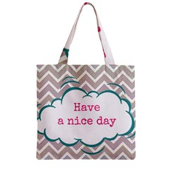 Have A Nice Day Zipper Grocery Tote Bag by BangZart