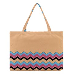 Chevrons Patterns Colorful Stripes Medium Tote Bag by BangZart