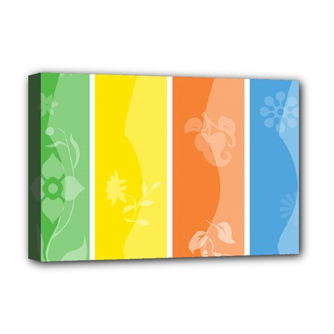 Floral Colorful Seasonal Banners Deluxe Canvas 18  X 12   by BangZart