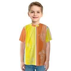 Floral Colorful Seasonal Banners Kids  Sport Mesh Tee by BangZart