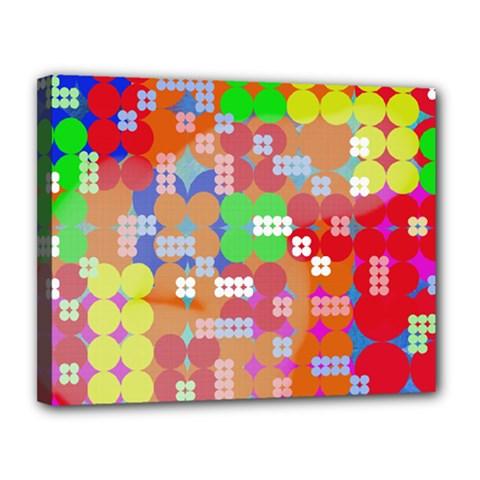 Abstract Polka Dot Pattern Canvas 14  X 11  by BangZart