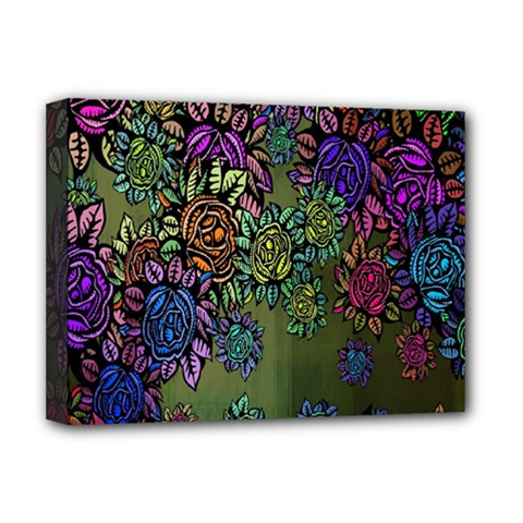 Grunge Rose Background Pattern Deluxe Canvas 16  X 12