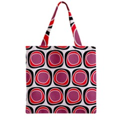 Wheel Stones Pink Pattern Abstract Background Grocery Tote Bag by BangZart