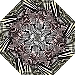 Abstract Fauna Pattern When Zebra And Giraffe Melt Together Folding Umbrellas by BangZart