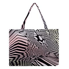 Abstract Fauna Pattern When Zebra And Giraffe Melt Together Medium Tote Bag by BangZart