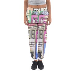 A Village Drawn In A Doodle Style Women s Jogger Sweatpants by BangZart