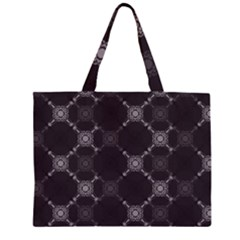 Abstract Seamless Pattern Background Zipper Large Tote Bag by BangZart