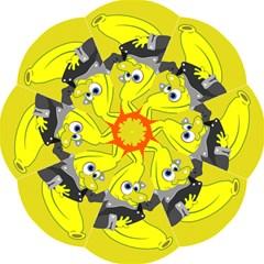 Funny Cartoon Punk Banana Illustration Hook Handle Umbrellas (medium) by BangZart