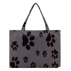 Dog Foodprint Paw Prints Seamless Background And Pattern Medium Tote Bag by BangZart