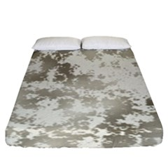 Wall Rock Pattern Structure Dirty Fitted Sheet (king Size)