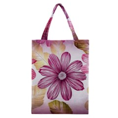 Flower Print Fabric Pattern Texture Classic Tote Bag by BangZart